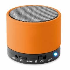 Bluetooth Lautsprecher, rund orange Round Bass