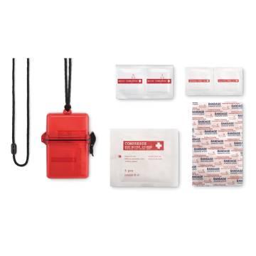 Erste-Hilfe-Set transparent rot Safe