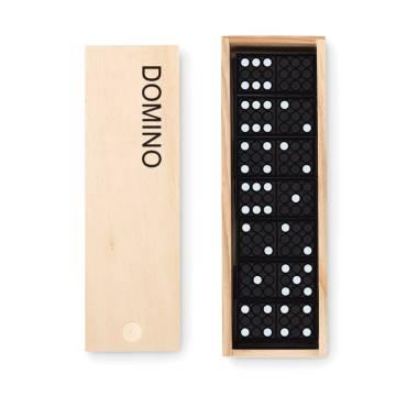 Domino Spiel holzfarben Domino