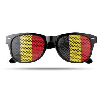 Fan Sonnenbrille schwarz Flag Fun