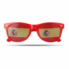 Fan Sonnenbrille rot Flag Fun