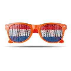 Fan Sonnenbrille orange Flag Fun